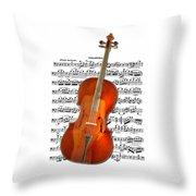 Cello With Clara Bow Throw Pillow