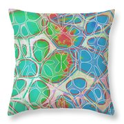 Cells 11 - Abstract Painting  Throw Pillow