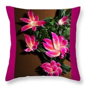 Celosia 7 Throw Pillow