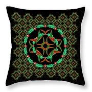Celtic Christmas Holly Wreath Throw Pillow