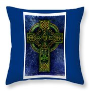 Celtic Cross - Harp Throw Pillow