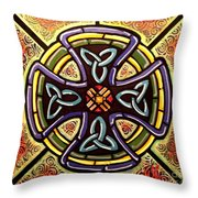Celtic Cross 2 Throw Pillow