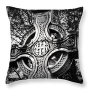 Celtic Cross Detail Killarney Ireland Throw Pillow