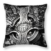 Celtic Cross Detail Killarney Ireland Throw Pillow by Teresa Mucha