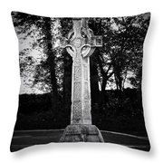 Celtic Cross In Killarney Ireland Throw Pillow