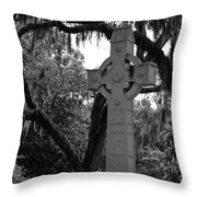 Celtic Cross Throw Pillow by Melody Jones