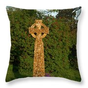Celtic Cross St Davids Church Throw Pillow