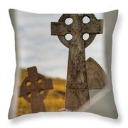 Celtic Crosses Throw Pillow
