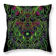 Celtic Day Of The Dead Skull Throw Pillow