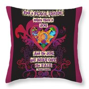 Celtic Eclipse Of The Heart Throw Pillow