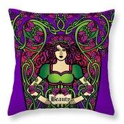 Celtic Forest Fairy - Beauty Throw Pillow
