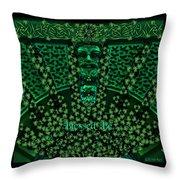 Celtic Green Man Throw Pillow