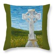 Celtic High Cross Throw Pillow