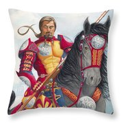 Celtic Iron Man Throw Pillow