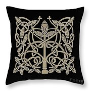 Celtic Leaves Knots One Throw Pillow