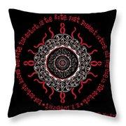 Celtic Lovecraftian Cosmic Monster Deity Throw Pillow