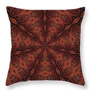 Celtic Ribbons Tile K7-2 Bronze Throw Pillow