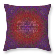 Celtic Romeo And Juliet Throw Pillow