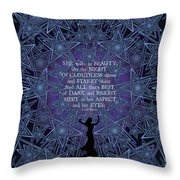 Celtic She Walks In Beauty Throw Pillow