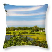 Celtic Shores Coastal Trail Throw Pillow