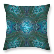 Celtic Snakes Mandala Throw Pillow