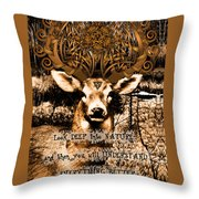 Celtic Stag Throw Pillow