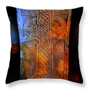 Celtic Stone Throw Pillow