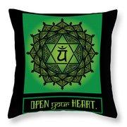 Celtic Tribal Heart Chakra Throw Pillow