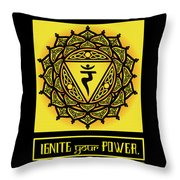 Celtic Tribal Solar Plexus Chakra Throw Pillow