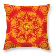 Celtic Tribal Sun Throw Pillow