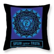 Celtic Tribal Throat Chakra Throw Pillow