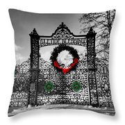 Celtic Yuletide Blessings Throw Pillow