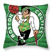 Celtics Barn Door Throw Pillow