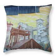 Cement And Graffiti 1 Throw Pillow