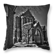 Cemetary Chaple Throw Pillow
