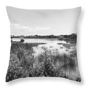 Cemetary Point Boardwalk Throw Pillow