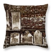 Cemetary Wall Throw Pillow