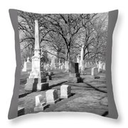 Cemetery 3 Throw Pillow