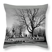 Cemetery 5 Throw Pillow