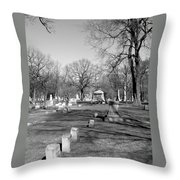 Cemetery 7 Throw Pillow