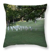 Cemetery At Shiloh National Military Park In Tennessee Throw Pillow