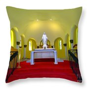 Cemetery Chapel Throw Pillow