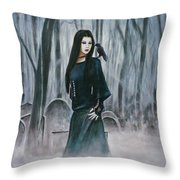 Cemetery Chic Throw Pillow