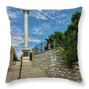 Cemetery Entrance And Lovejoy Monument  Throw Pillow
