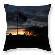 Cemetery Flag 2 Throw Pillow