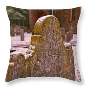 Cemetery Headstone  Throw Pillow