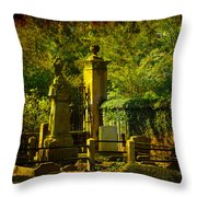 Cemetery In Charleston Throw Pillow