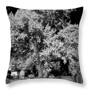 Cemetery Infrared Throw Pillow