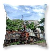 Cemetery Of Railway Throw Pillow