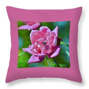 Cemetery Rose Throw Pillow